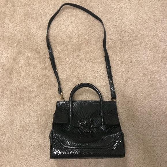 Versace Bags   Python Palazzo Empire Bag Black   Poshmark 9afafa5788